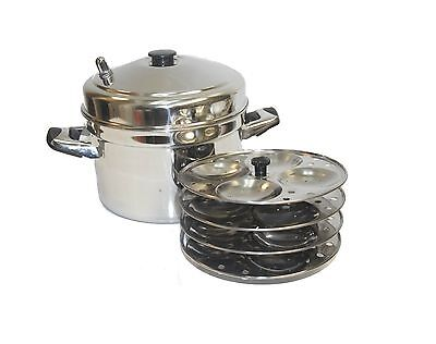 Tabakh IC-204 4-Rack Stainless Steel Idli Cooker with Strong Ha... Free Shipping