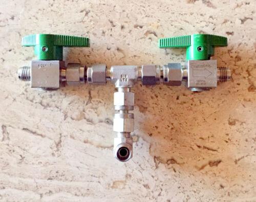 "Swagelok SS-4P4T-GR Quarter Turn Instrument Plug Valves(2),1/4"" Swaglok fittings"