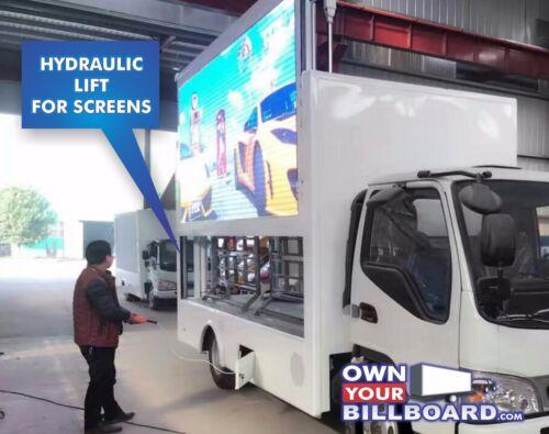 Led billboard  Truck HD Video with Hydraulic Lift screens