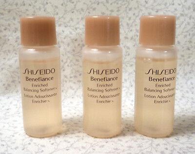Shiseido Benefiance -Lot of (3) Enriched Balancing Softener N Samples -.23 oz.ea