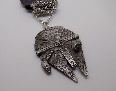 Star Wars necklaces, different designs, ships, R2D2, BB8, Mandalorian