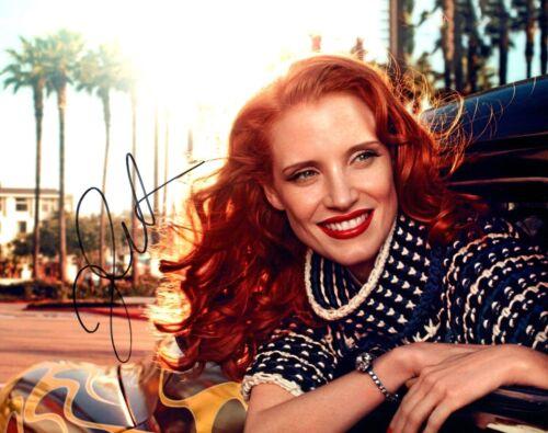 Jessica Chastain Signed Autographed 8x10 Photo ZERO DARK THIRTY Actress COA