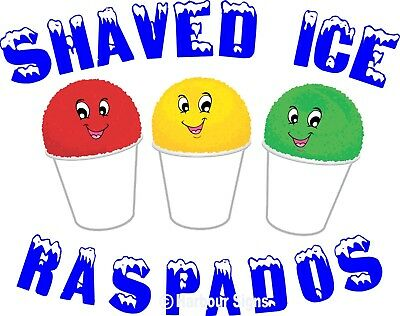 Shaved Ice Raspados Decal 14 Snow Cones Concession Food Truck Vinyl Sticker