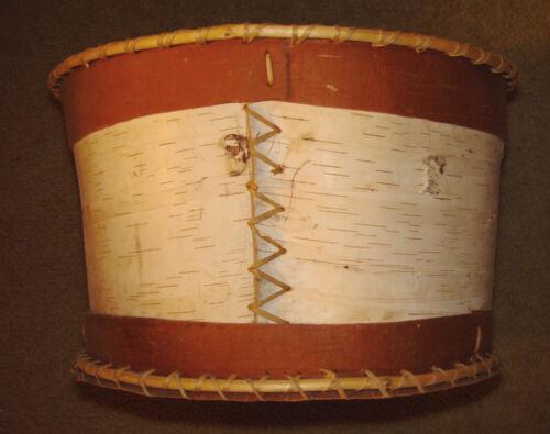 "Vintage Native American Ojibwe Very Large 17"" x 10 1/2"" Birch Basket"