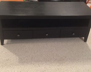 Espresso Solid Wood TV stand