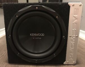 Kenwood Excelon KFC-XW10 with Bassworx sealed box