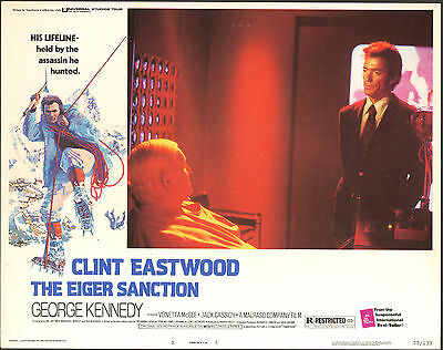THE EIGER SANCTION original 1975 lobby card CLINT EASTWOOD 11x14 movie poster