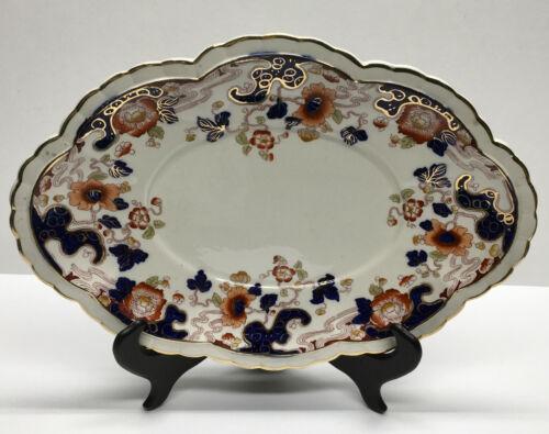 "Antique Tokio #1790 Late Mayers Imari 14"" Oval Meat, Serving Platter, c1920"