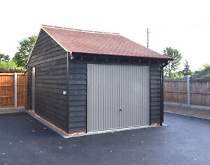 single timber garage  plans, elevations , sections & specificatioins