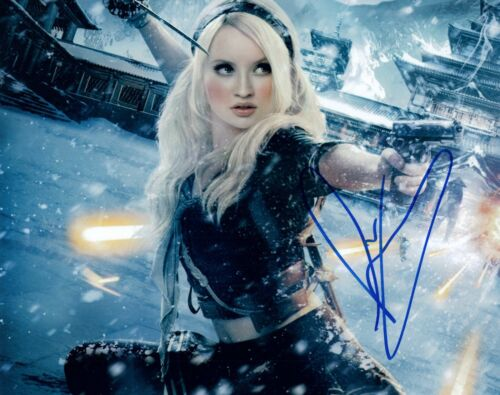Emily Browning Signed Autograph 8x10 Photo Sucker Punch American Gods COA