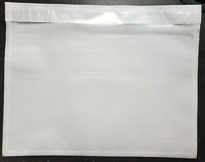 100 - Clear 7 X 5.5 Packing List Envelope Invoice Slip Self Sealing Pouch