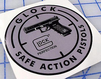 GLOCK ROUND PISTOL HANDGUN DECAL 9MM .40 Cal .380 G22 G19 TACTICAL