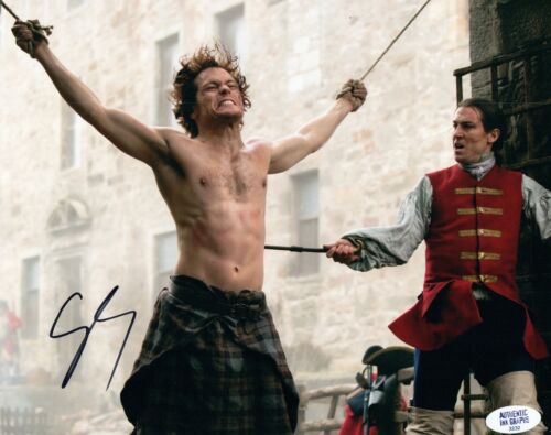 Sam Heughan Signed Autographed 8x10 Photo Outlander Shirtless COA VD
