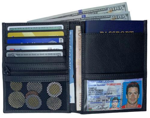 RFID Blocking Genuine Leather Travel Passport Wallet Holder