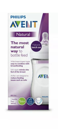 Philips Avent Natural Baby Bottle, Clear, 9oz, 1pk, SCF013/1