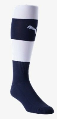 66bc46c37741 PUMA Performance Soccer Socks Size 3 Adult White Navy Foot 7-12 msrp  10.00