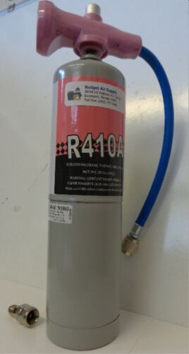 410a refrigerant Top off 1.8lb can with EZ READ  Gauge & Mini Split  Adapter