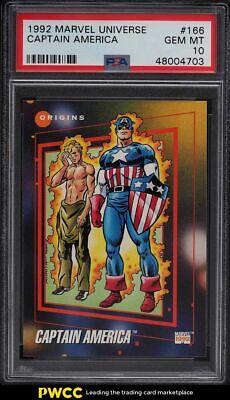 1992 Marvel Universe Captain America 166 PSA 10 GEM MINT - $26.88