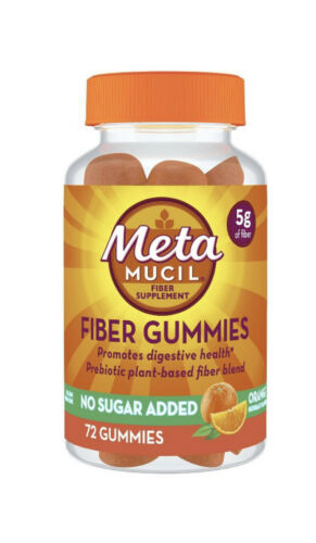 Metamucil Gummies Fiber No Sugar Added 72 Gummies New Sealed 1