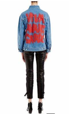 Moschino's designer Jeremy Scott. Womans Denim Jacket.UK Size 8-10 new. Unworn.