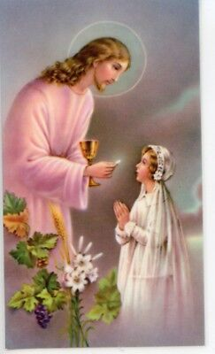 FIRST COMMUNION PRAYER - GIRL - Laminated  Holy Cards.  QUANTITY 25 CARDS (First Communion Prayers)