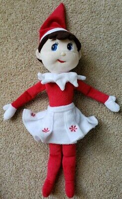 "CCA And B 14"" Stuffed Elf Girl Doll Based On Elf On The Shelf"