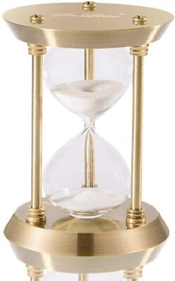 Hourglass Timer Sand Clock with 5 Minutes & Brass Metal Hour Glass