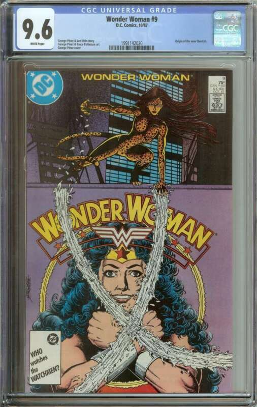 WONDER WOMAN #9 CGC 9.6 WHITE PAGES