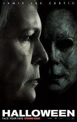 HALLOWEEN MOVIE POSTER 2 Sided ORIGINAL INTL Version B 2018 27x40 MICHAEL MYERS