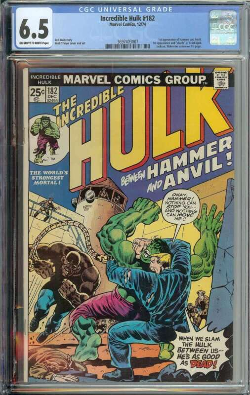 Incredible Hulk #182 CGC 6.5 Wolverine 3rd App