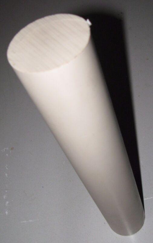 """2"""" Diameter by 12"""" in Length  Natural PEEK Rod"""