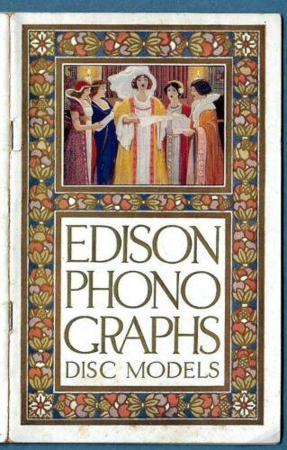 RARE 1912-1913 EDISON PHONOGRAPH CATALOG ~ DISC MODELS