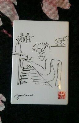 Beatles John Lennon Yoko Ono refrigerator magnet Bag One Arts Inc. 1998 Official