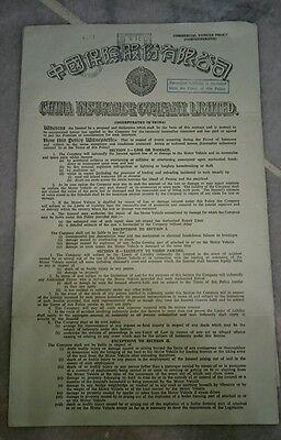 RARE in Malaysia 1967 China Insurance Co Ltd Policy & Pan Malayan Finance Letter