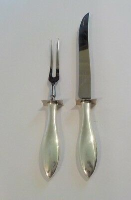 Sterling Silver Large 2-Piece Roast Carving Set - Knife & (Large 2 Piece Roast Carving)
