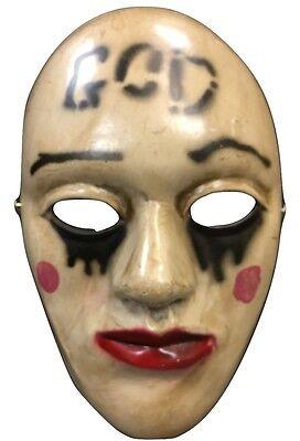 The Purge Gut Glasfaser Film Kostüm Maske Erwachsene Anarchie Wahl Jahr 2