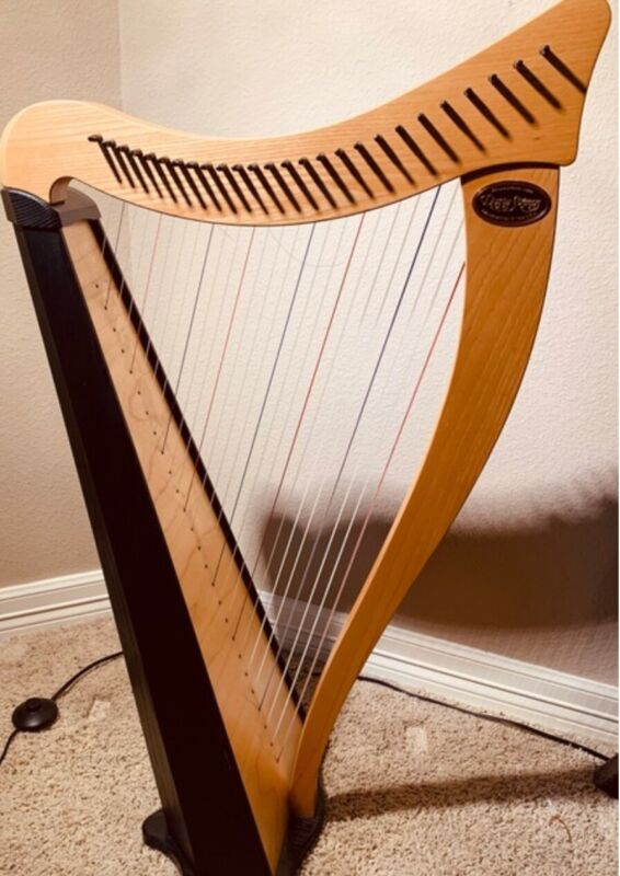 Dusty Springs Ravenna 26 String Harp C F Sharp Lever with Case Stand Accessories