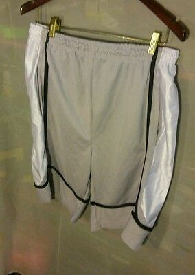 Gametime Basketball Shorts (Vintage Game Time Men's Basketball Shorts Gray Mesh w/ White & Black sz L )
