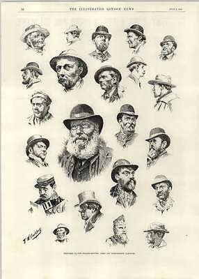 1892 Free And Independent Electors Polling Booths Many Hats