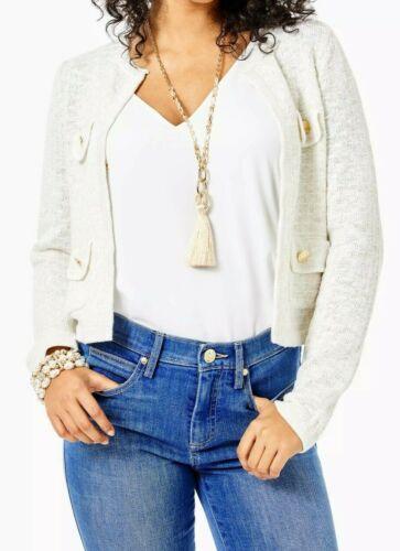Kienna Cardigan Resort White Metallic