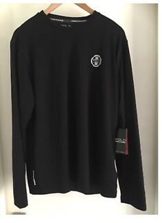 GENUINE RALPH LAUREN MENS BLACK POLO SPORT CREW TEE SIZE LARGE NEW