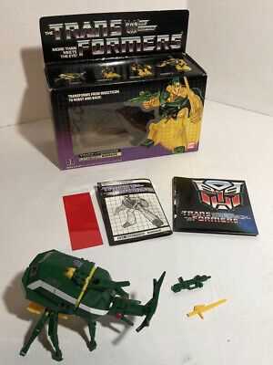 Vintage G1 Transformers insecticon BARRAGE complete box Hasbro Bandai 1984 Lot