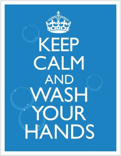 Keep Calm & Wash Your Hands Public Safety Poster 2 pack - FREE SHIPPING