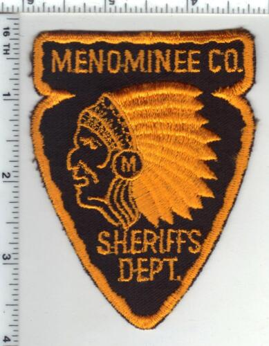 Menominee County Sheriff (Wisconsin) 3rd Issue Shoulder Patch