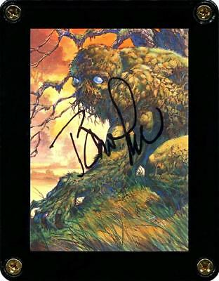 """MASTER OF MACABRE 2 """"SWAMP THING"""" CARD 24 SIGNED ARTIST BERNIE WRIGHTSON"""