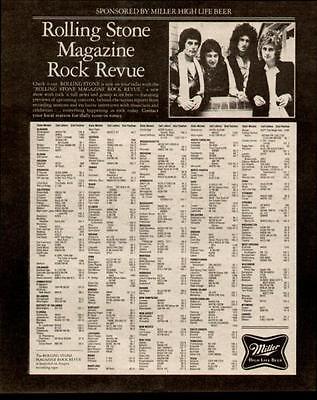 1981 QUEEN IN THE ROLLING STONE ROCK REVUE MILLER AD