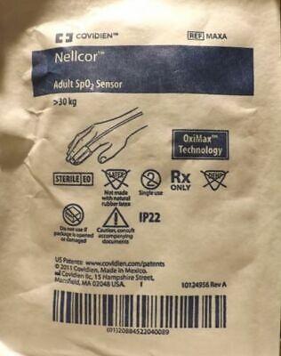 Nellcor Covidien Max-a Adult Spo2 Sensors Box Of 24 Exp 052020