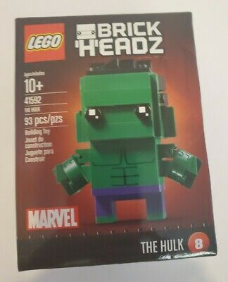 LEGO #41592 BRICKHEADZ #8 HULK!!! RETIRED!!! SEALED IN BOX!!!