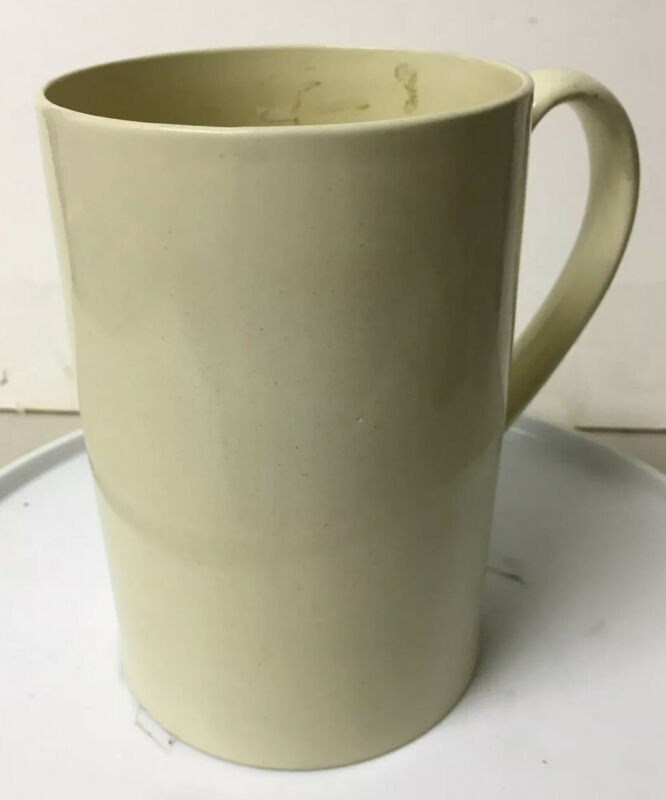 LARGE EARLY ANTIQUE PEARLWARE TANKARD MUG
