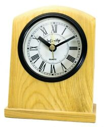 INFINITY : HANDMADE WOOD CASE ELEGANT STYLE TABLE ALARM CLOCK, BLACK HANDS